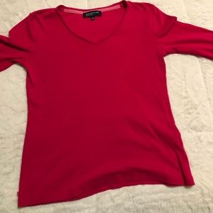 Hot pink long sleeve Jones New York Tee M